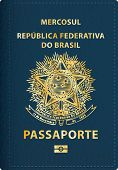 pic of passport cover  - vector Brazilian passport cover - JPG