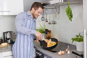 stock photo of single man  - Single household - JPG