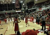 Unlv Vs. Santa Clara: Players Get Ready For An Inbound Pass
