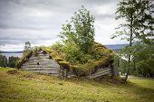 picture of laplander  - Really old wooden shed in Lapland Sweden - JPG