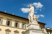 pic of alighieri  - The statue of Dante Alighieri in Florence Italy - JPG