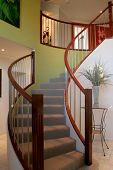 foto of bannister  - Beautiful spiral staircase in show home - JPG