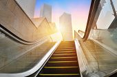 picture of escalator  - escalator to office building - JPG