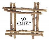 image of no entry  - No Entry Sign on Isolated White Background - JPG