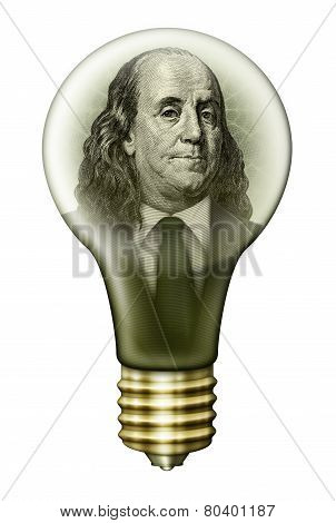 Benjamin Franklin Money Bulb
