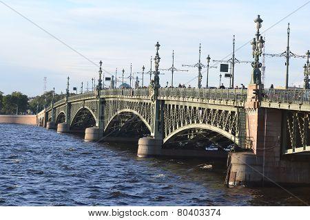 Trinity Bridge In St.petersburg