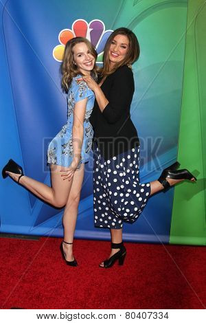 LOS ANGELES - DEC 16:  Bridget Mendler, Bianca Kajlich at the NBCUniversal TCA Press Tour at the Huntington Langham Hotel on December 16, 2015 in Pasadena, CA