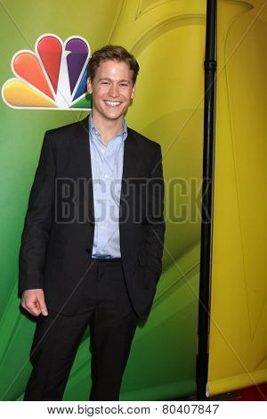 LOS ANGELES - DEC 16:  Gavin Stenhouse at the NBCUniversal TCA Press Tour at the Huntington Langham Hotel on December 16, 2015 in Pasadena, CA
