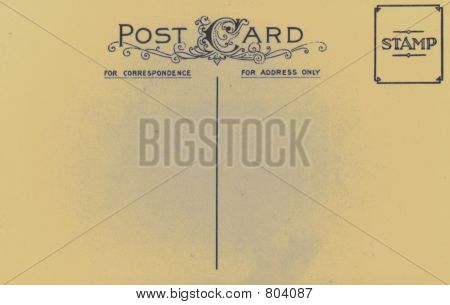 Vintage Retro Postcard Aged