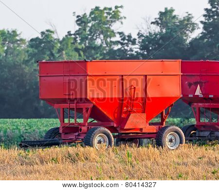 Red Grain Wagons