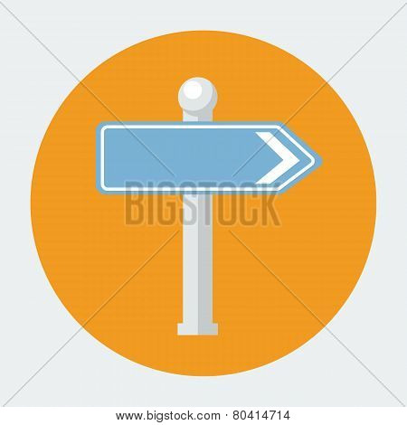 Vector road sign icon