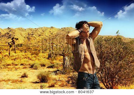 Sexy Guy In Desert