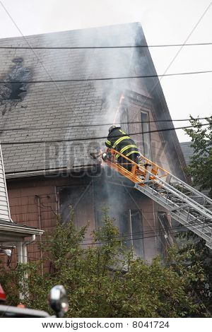 fire at 111 Glenwood Road June 17,2010 in Somerville, MA