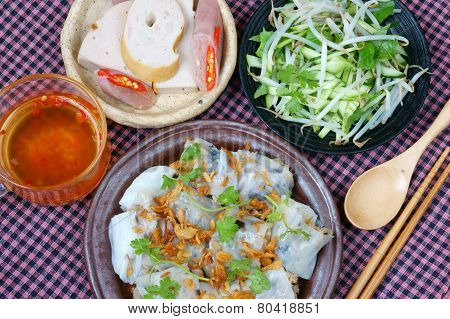 Vietnamese Food, Rice Noodle Roll