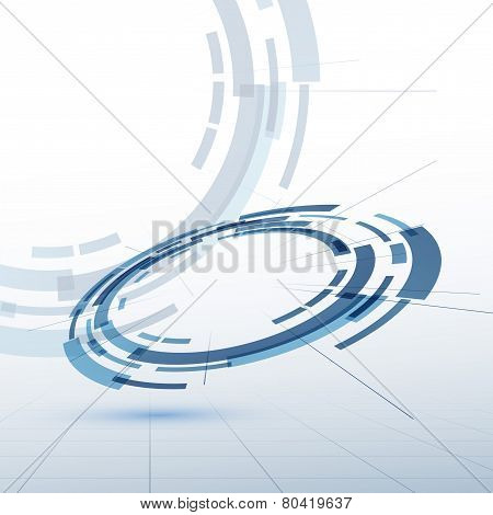 Gear Wheel Model Abstract Background