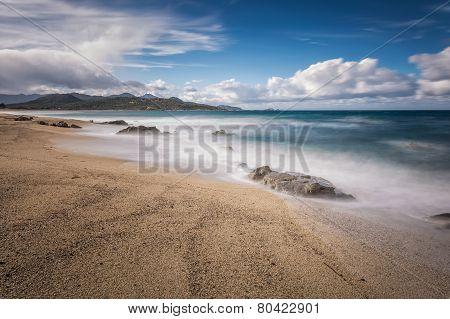 Lozari Beach Near Ile Rousse In Corsica
