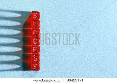 Success Red And  Blue