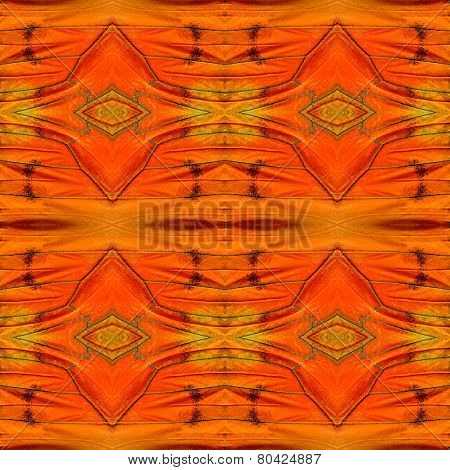Beautiful seamless orange background patterned by Orange Albatross butterfly's wing skin