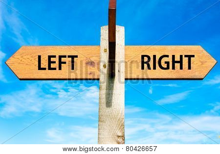 Left versus Right messages