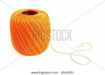 Orange Cotton Spool