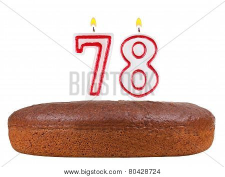 Birthday Cake Candles Number 78 Isolated