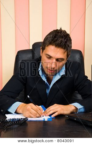 Business Man Writing