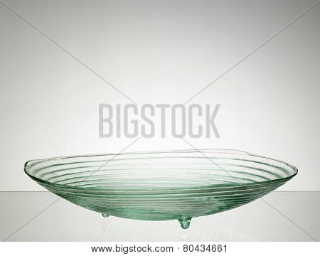 glass bowl with the swirl design