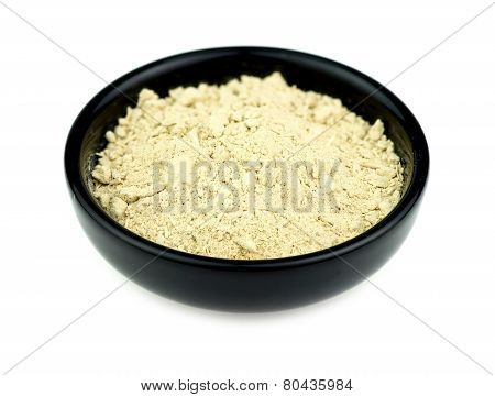 Kava Root In Bowl Isolated On White