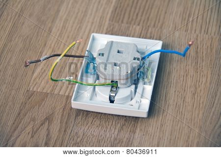 Electric Socket Lying Dismantled