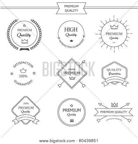 Premium quality line labels set