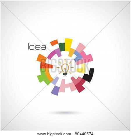 Creative Circle Abstract Vector Logo Design Template.