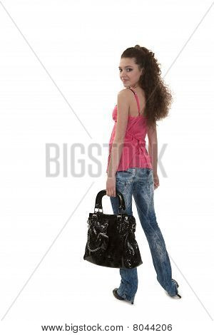 Black bag and the girl