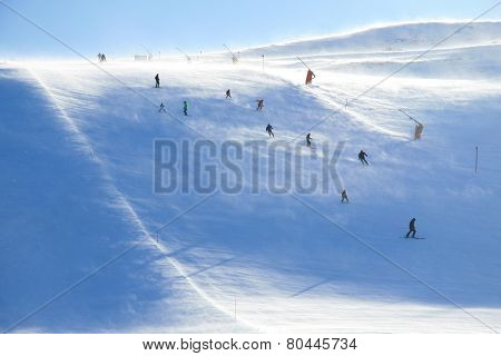 Skiing On A Windy Day