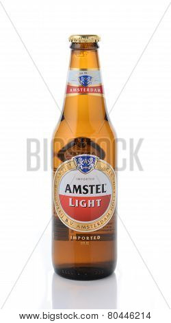 Amstel Light Isolated On White