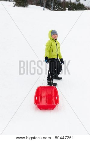 Boy With Sledge