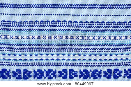 Embroidered Pattern On Fabric
