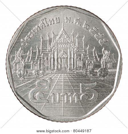 Five Thai Baht Coin