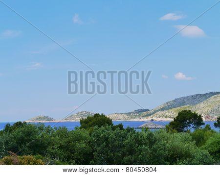 The island Lastovo in Croatia