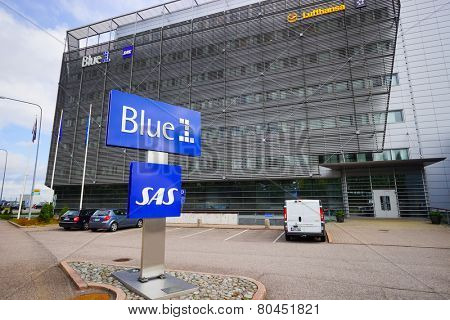 HELSINKI, FINLAND - SEP 03: area near Helsinki Airport on September 03, 2014. Helsinki Airport  is the main international airport of the Helsinki metropolitan region and the whole of Finland
