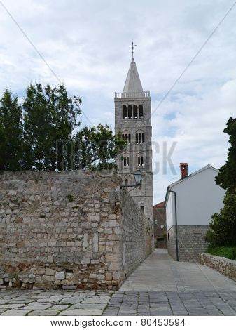 The historic city Rab in Croatia