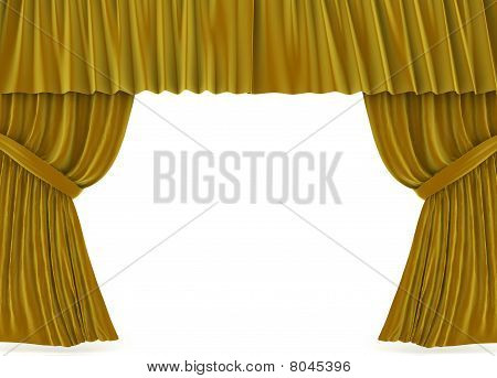 Curtains Over White