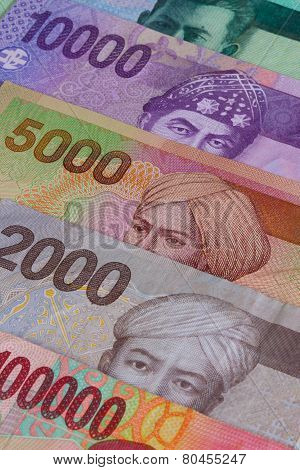 Different Indonesian Rupiah On The Table