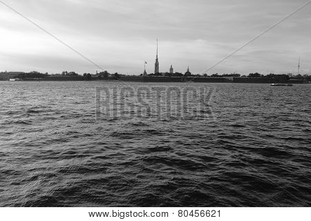 View Of Neva River.