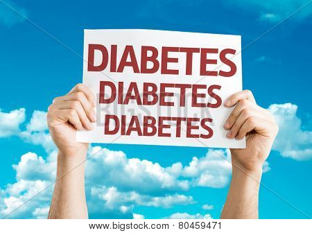 Diabetes card with sky background