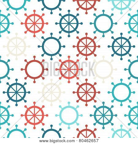 Steering Wheel Seamless Pattern With Some Hollow Wheels