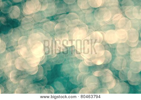 Defocused bokeh lights