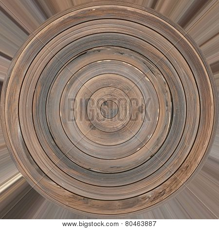 Circle Wood Plank Texture
