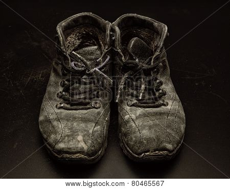 Old worn out shoes