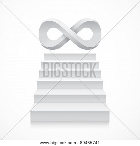 Stairs with infinity symbol on top