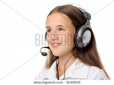 Operator In Headset